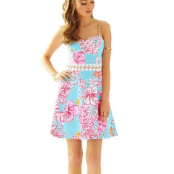 9f784f8a87a1 Lilly Pulitzer Dresses   Breakwater Blue Lolita Cutout Dress   Poshmark